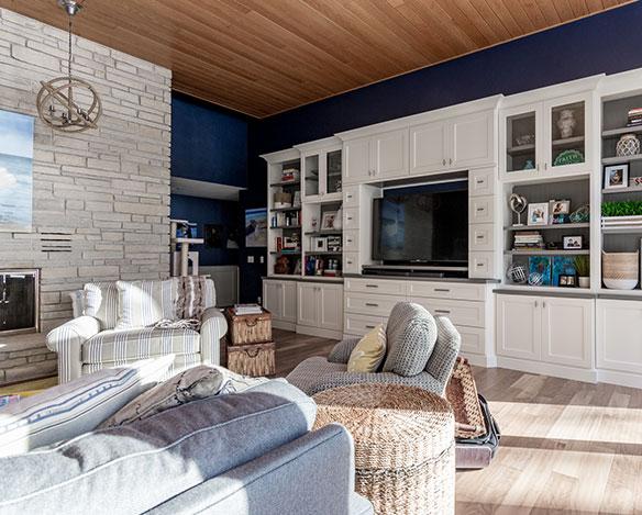 Custom Cabinets in Living Room