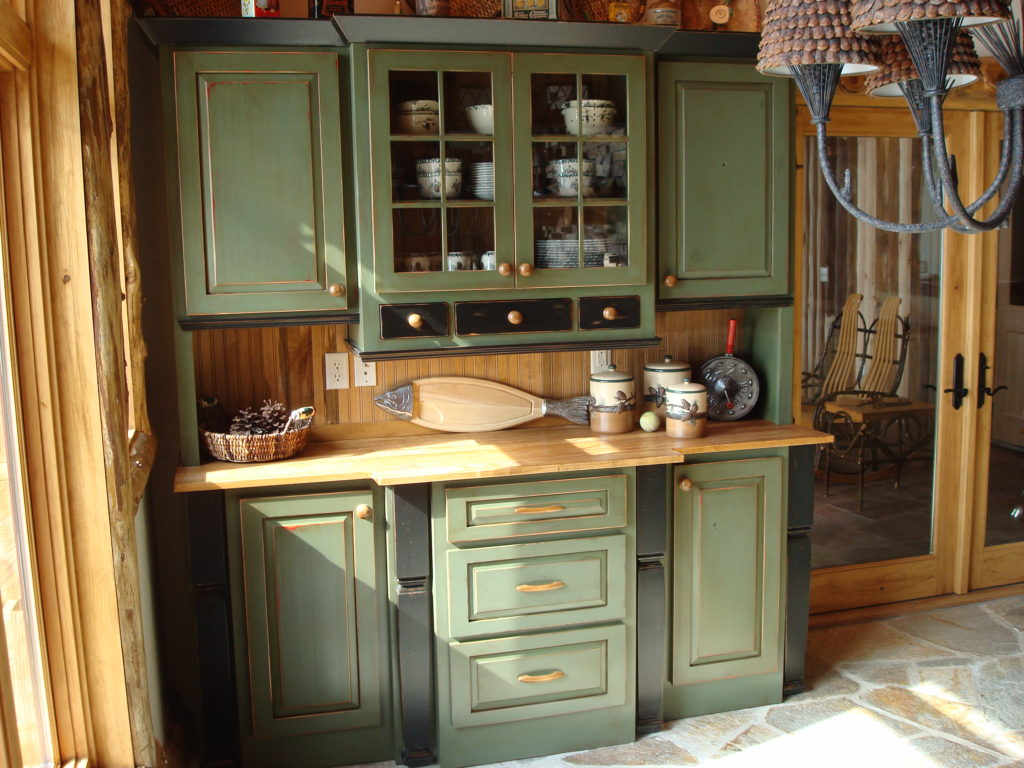 Painted Kitchen Hutch