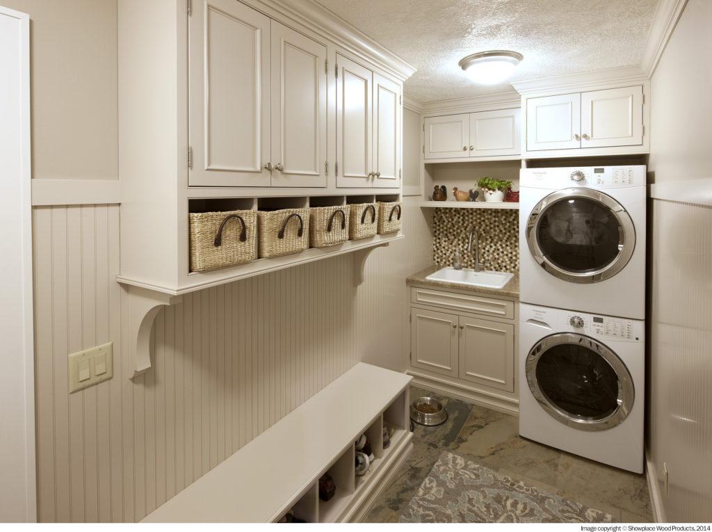 Washroom mudroom cabinets