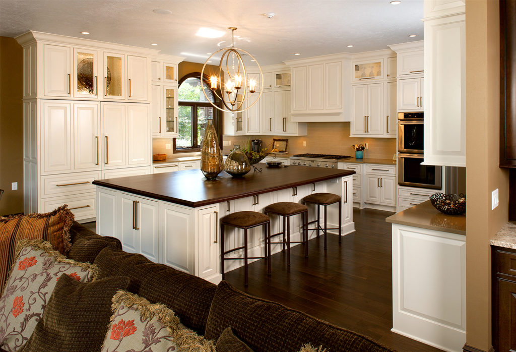 Showplace kitchen island with seating
