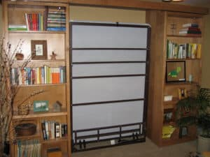 murphy bed with wall cabinets